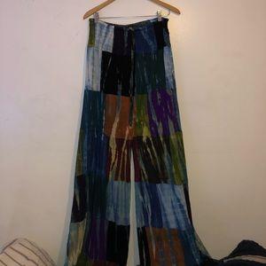 Hippie long colorful pants